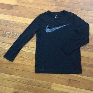 Boys Nike DRI-Fit long sleeve tech tee